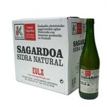 Sidra natural eusko Label Eula Caja 12bot.
